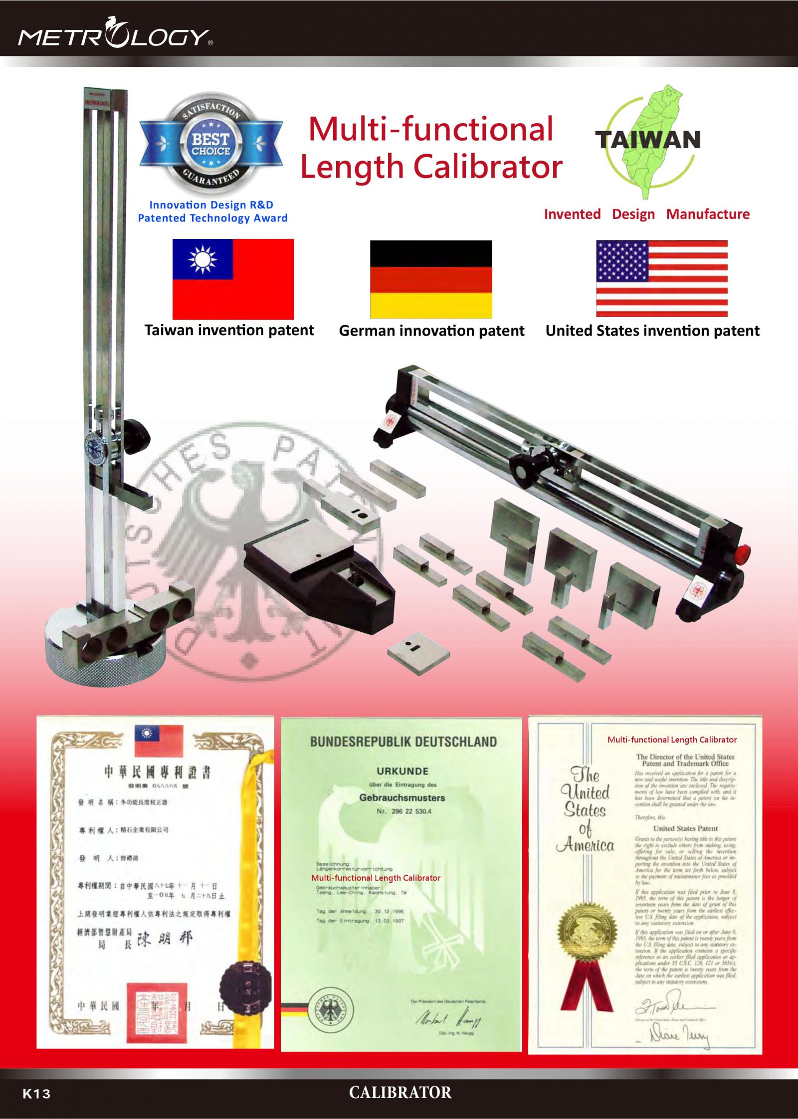 Multi-Functional Length Calibrator Metrology
